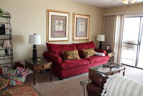 Whispering Seas: Living Room Sofa