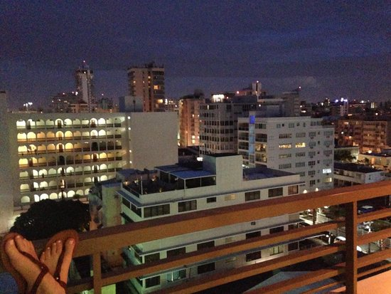 La Concha Resort: A Renaissance Hotel: A balcony view of all the hotels we could have stayed in
