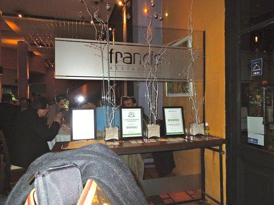 Francis Restaurant: Entrada!