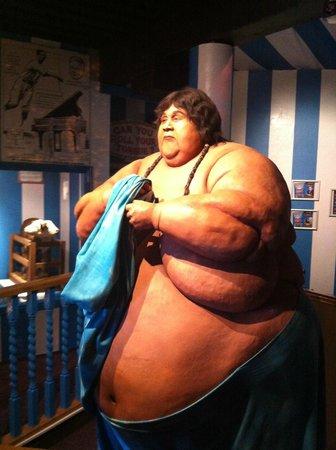 Ripley's Believe It Or Not! Blackpool: World's fattest man exhibit