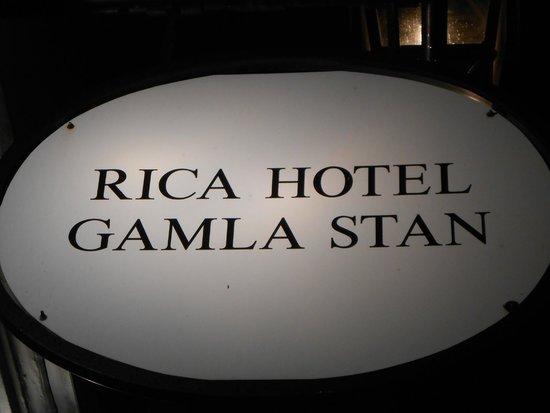 Scandic Gamla Stan: Insegna dell'hotel