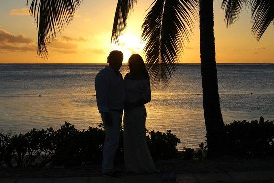 LUX Le Morne : Romantische zonsondergang