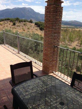 Alojamientos Huetor: Balkon met uitzicht.