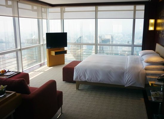 Grand Hyatt Shanghai: As paredes de vidro garantem belíssimas vistas