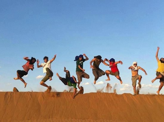 Camel Safari Camp: The Dune Climb is the main attraction for the kids who love to run and roll down the dunes.or fo
