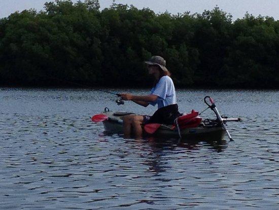 Fishing from motorized kayak - Picture of Motorized Kayak