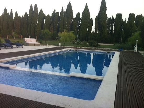Le Mas des Chutes : piscina a26 gradi