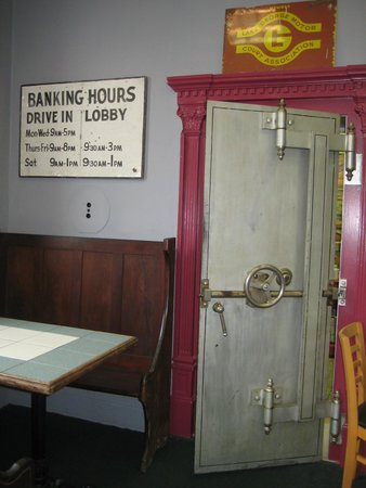 Bank Cafe: The Steel Door to the Former Safe