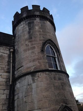 Melville Castle: A turret viewed from our bedroom.