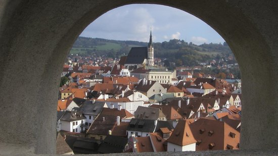 Historic Center of Cesky Krumlov : Vista dai castello