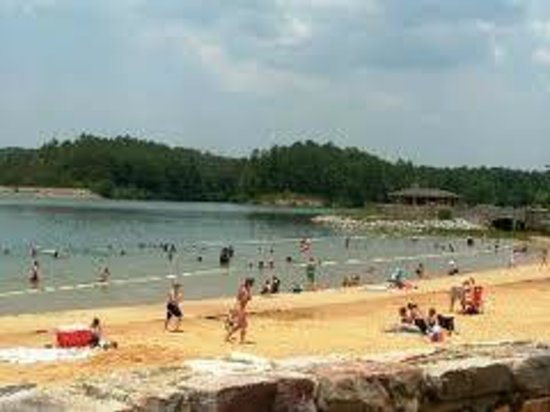 The beach at Oak Mountain State Park