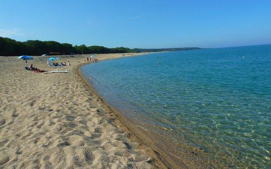 Domus De Janas Beach Resort: Torre di Bari beach by the hotel (left part)