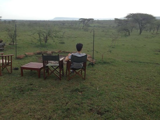 Kandili Camp: relax time in the bonfire area ..