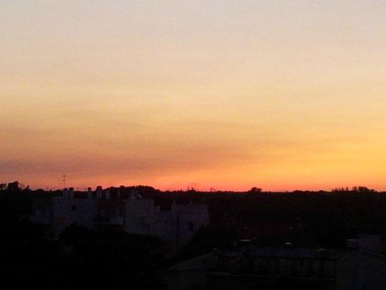 Hotel Perla Verde : tramonto dal terrazzo