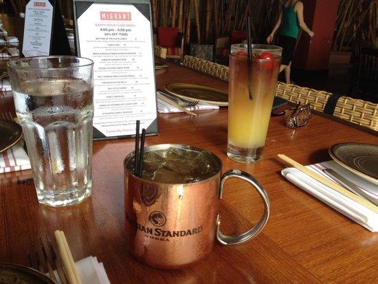 Migrant Maui: Migrant mule and Maui tai. Bar menu