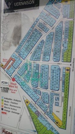 map foto di march aux puces de saint ouen saint ouen tripadvisor. Black Bedroom Furniture Sets. Home Design Ideas