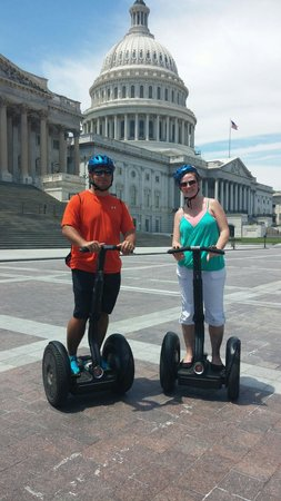 Private DC Segway Tours: My wife and I at Cap...she's got the gangster hat, lol!