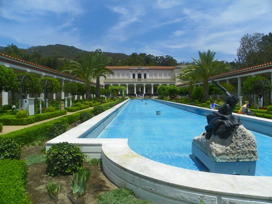 The Getty Villa: the reflecting pool