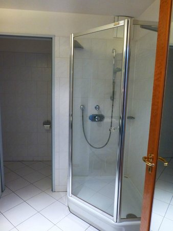 Hotel Europaeischer Hof: Separate toilet room and glass shower stall