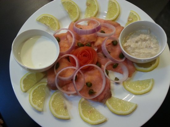 Royal Phoenicia Hotel: canned smoked salmon