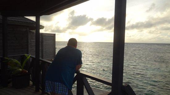 Kuredu Island Resort & Spa: from the balcony of the villa