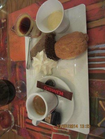 Cantina Doria: cafe gourmand