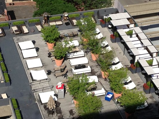 Revere Hotel Boston Common : Rooftop as viewed from the 23rd floor!