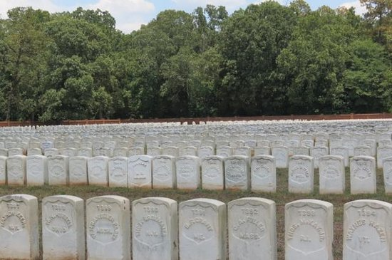Andersonville National Historic Site and National Prisoner of War Museum: Just part of the cemetery