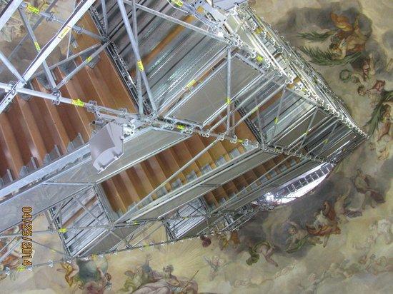 Karlskirche: estrutura do elevador
