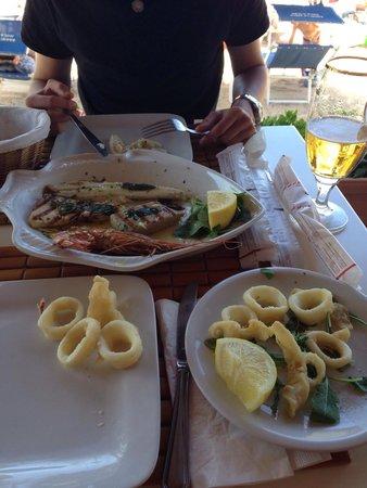 Ristorante Sapore di Mare: Grigliata di pesce e fritto