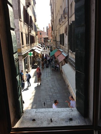 Locanda al Leon: a street view from one of our room windows