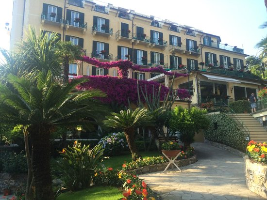 Metropole: looking back up at the hotel from the garden