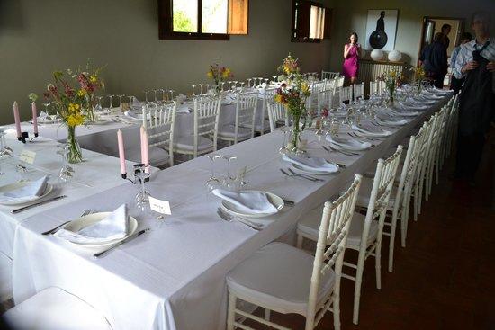Fattoria Barbialla Nuova: Living room set out for wedding breakfast