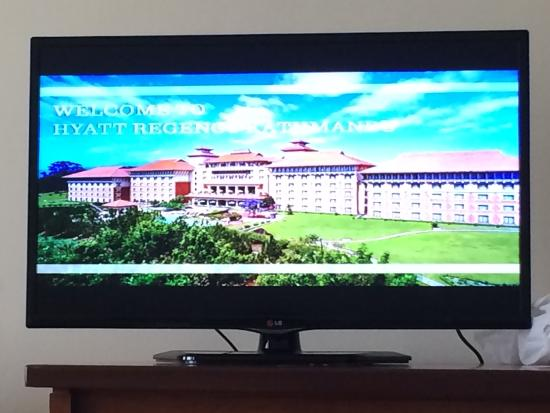 Hyatt Regency Kathmandu: Hard to get a photo of the outside, so I took it from the tv:)