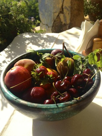 Kalimera! The bounty of Kamares Estates grace the breakfast tables every morning...