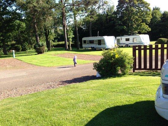 Mortonhall Caravan and Camping Park : Daughter going a walk.