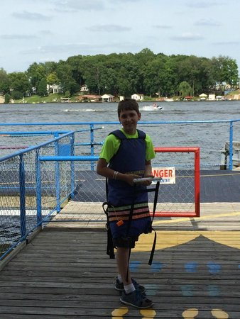 Monticello, IN: Sky Coaster set up