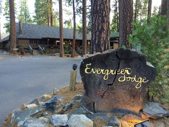 Evergreen Lodge at Yosemite: Road frontage along Evergreen Road.