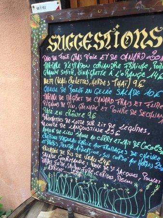 menu - photo de la table du brocanteur, colmar - tripadvisor