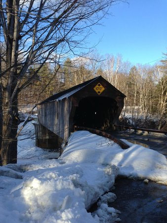 The Inn at Weathersfield: Covered bridge right down the road for photo opps