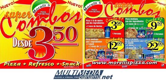 Morelli's Pizza por Metro : Ahora con combos....