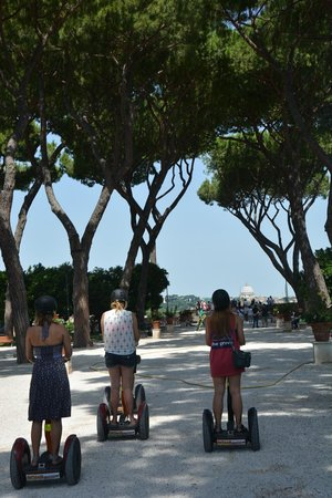Rome by Segway : On the way to a wonderful view