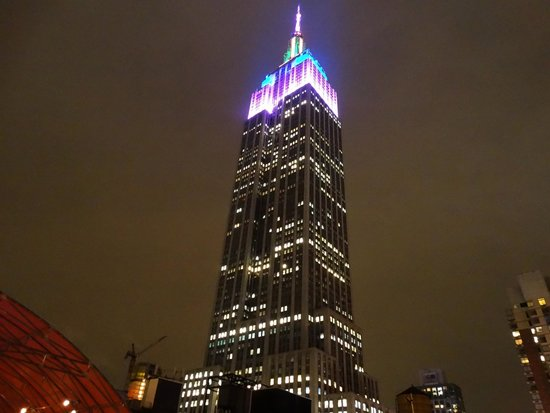 Hotel Metro: Empire State Building from the rooftop terrace.