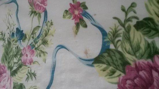 Island Resort & Inn : stains on bedspread