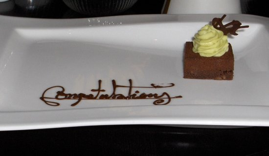 Castle Terrace Restaurant: lovely touch from Castle Terrace - much appreciated!