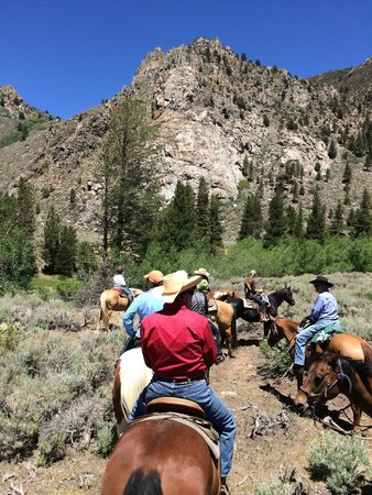 Hunewill Guest Ranch: Gorilla Rock - the end of the cattle drive!