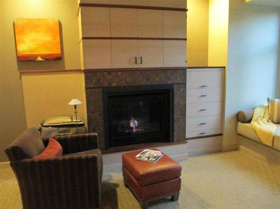 Allison Inn & Spa: Fireplace in suite