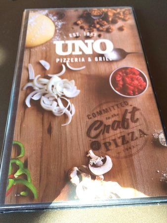 Uno Chicago Grill - Plattsburgh: The extensive menu