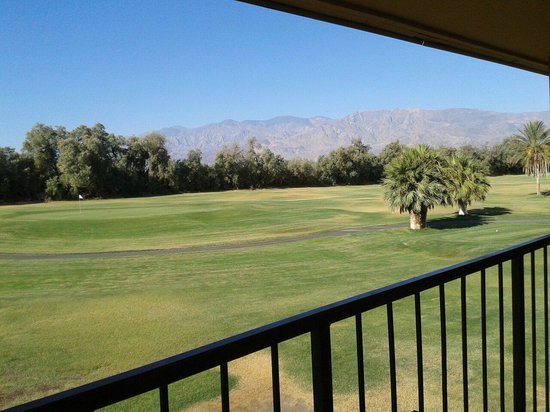 Furnace Creek Inn and Ranch Resort: View from the balcony in our room.