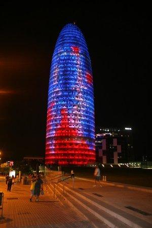 Novotel Barcelona City : Hotel and area